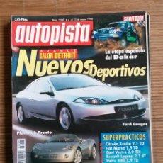 Coches: REVISTA AUTOPISTA Nº 2008 AÑO 1998. PLYMOUTH PRONTO,ASTON MARTIN VANTAGE,FORD COUGAR. Lote 47941043
