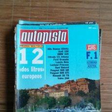 Coches: REVISTA AUTOPISTA Nº 1113 AÑO 1980.ALFA ROMEO ALFETTA,AUDI 100,BMW 320,CITROEN CX ATHENA,FORD GRANAD. Lote 48036710