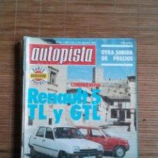 Coches: REVISTA AUTOPISTA Nº 1160 AÑO 1981. RENAULT 5 TL Y GTL. Lote 48037388