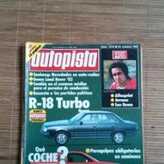 Coches: REVISTA AUTOPISTA Nº 1215 AÑO 1982. R-18 TURBO, 32 COUPES, GAMA LAND ROVER 83,ALFASPRINT. Lote 48038179