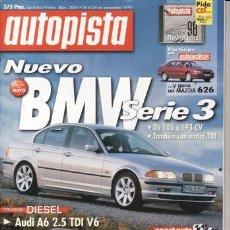Coches: REVISTA AUTOPISTA Nº 2001 AÑO 1997. PRU:MERCEDES C220 CDI.AUDI A6 2.5 V6 TDI. MITSUBISHI MONTERO 2.8. Lote 48101847