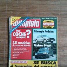 Coches: REVISTA AUTOPISTA Nº 1206 AÑO 1982. ESPECIAL, CON OTRA REVISTA DENTRO.TRIUMPH ACCLAIM,HORIZON DIESEL. Lote 48126085