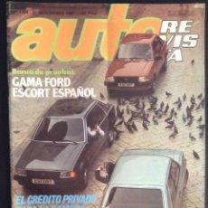 Coches: AUTO-REVISTA Nº NUMERO 1258 DE 1981 FORD ESCORT. Lote 48191436