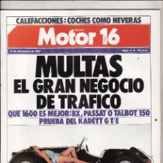 Coches: REVISTA MOTOR 16 Nº 8 AÑO 1983. PRU: OPEL KADETT GT/E. COMP:CITROEN BX 16. TALBOT 150 GT Y VW PASSAT. Lote 48336802