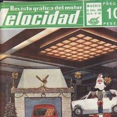 Coches: REVISTA VELOCIDAD Nº 381 AÑO 1968. PRUEBA TECNICA: RENAULT 8 TS. . Lote 48420080