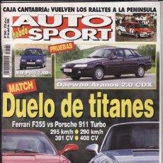 Voitures: REVISTA AUTO HEBDO SPORT Nº 560 AÑO 1996. PRU: DAEWOO ARANOS 2.0 CDX. VW POLO 1.9D.COMP: FERRARI 355. Lote 51093925