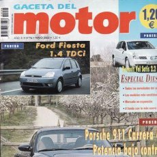 Coches: REVISTA GACETA DEL MOTOR Nº 94 AÑO 2002. PRUEBA: PORSCHE 911 CARRERA 4S. FORD FIESTA 1.4 TDCI. . Lote 48450456