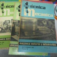 Coches: LOTE 9 NUMEROS TECNICA MECANICA AUTOMOVILES CEAC AÑOS 60. Lote 48517669