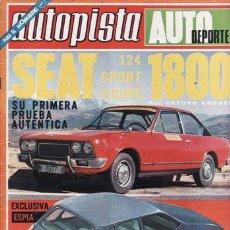 REVISTA AUTOPISTA Nº 733 AÑO 1973. PRUEBA: SEAT 124 SPORT COUPE 1800.