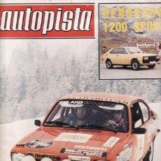 Coches: REVISTA AUTOPISTA Nº 936 AÑO 1977. PRUEBA: SEAT 133 ESPECIAL LUJO. VW GOLF L DIESEL. . Lote 48631845