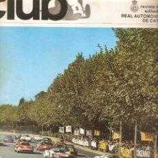 Coches: REVISTA CLUB Nº 42 NOVIEMBRE 1966 TROFEO MONTJUICH . Lote 48736675