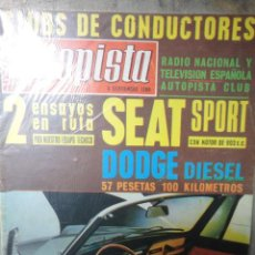 Coches: REVISTA AUTOPISTA NUMERO 552 6 SEPTIEMBRE 1969. Lote 91816084