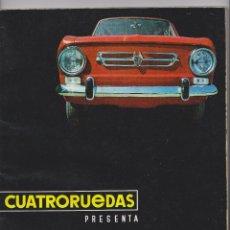 Coches: REPRODUCION EN CD REVISTA CUATRORUEDAS SEAT 850. Lote 49645404