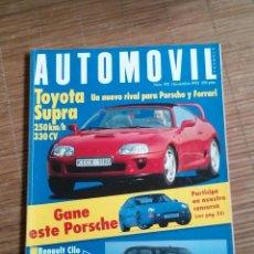 Coches: AUTOMOVIL 190 NOV 1993 TOYOTA SUPRA OPEL VECTRA TURBO PEUGEOT 405 T16 MITSUBISHI ECLIPSE 16V. Lote 49704830