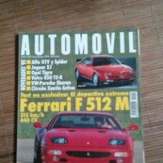 Coches: REVISTA AUTOMOVIL FÓRMULA Nº 202 AÑO 1994. PRUEBA: TOYOTA CELICA 2.0 GT. PRUEBA: FERRARI F 512 M.CON. Lote 49705024