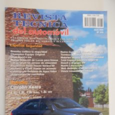 Coches: REVISTA TÉCNICA DEL AUTOMÓVIL. Nº 70.1999. ESPECIAL SEGURIDAD. CITROËN XSARA (BERLINA, BREAK, COUPÉ). Lote 49839949
