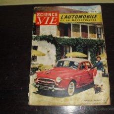 Coches: L'AUTOMOBILE ET LA MOTOCYCLETTE (SCIENCE ET VIE Nº FUERA DE SERIE) AÑO 1955-56. Lote 49989467