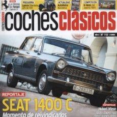 Coches: COCHES CLASICOS N. 119 - EN PORTADA: SEAT 1400 C (NUEVA). Lote 194306153