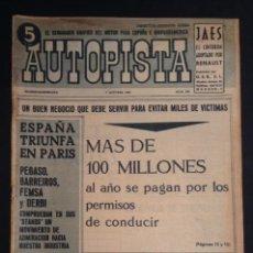 Coches: REVISTA DE COCHES AUTOPISTA AUTO-PISTA Nº 298 DE 1964 . Lote 50094309