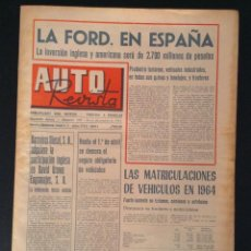 Coches: REVISTA DE COCHES AUTO REVISTA Nº 395 DE 1964 FORD. Lote 50192029
