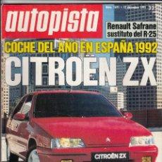 Coches: REVISTA AUTOPISTA Nº 1691 AÑO 1991. PRUEBA: PORSCHE 968. . Lote 50230871