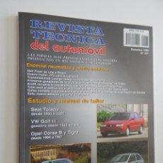 Coches: REVISTA TÉCNICA DEL AUTOMÓVIL 77. 1999. NEUMÁTICO Y MEDIO AMBIENTE. TOLEDO. GOLF III. CORSA B, TIGRA. Lote 50259428