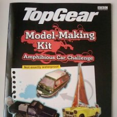 Coches: -TOP GEAR -MODEL -MAKING KIT -AMPHIBIOUS CAR CHALLENGE-NOT EXACTLY WATERPROOF-BBC 2005-SIN ABRIR. Lote 50306088