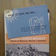 Coches: REVISTA TECNICA MECANICA. REVISTA DE MECÁNICA, MOTORES Y AUTOMÓVIL. MAYO 1959. NUMERO 4.. Lote 50337771