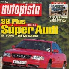 REVISTA AUTOPISTA Nº 1948 AÑO 1996. PRUEBA: AUDI S6 PLUS. JAGUAR XK8.
