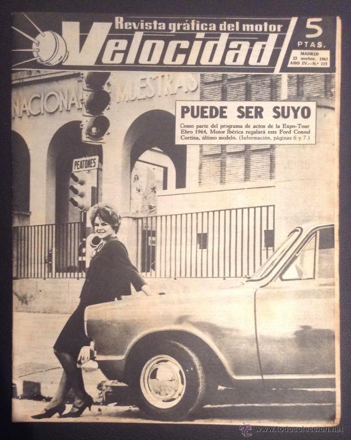 REVISTA VELOCIDAD NUMERO Nº 115 DE 1963 CITROEN 2 CV AZ -AM (Coches y Motocicletas Antiguas y Clásicas - Revistas de Coches)