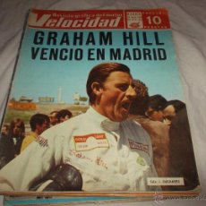 Coches: VELOCIDAD Nº 349. GRAHAM HILL VENCIO EN MADRID. PEUGEOT 504. MICROBUSES PARA BARCELONA.. Lote 50540346