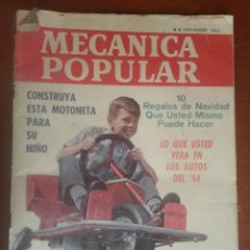 Coches: REVISTA MECÁNICA POPULAR, NOVIEMBRE 1963. Lote 50622619