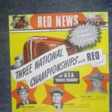 Coches: RED NEWS / NOVEMBER 1947 / THREE NATIONAL CHAMPIONHIPS / SPECIAL ROADEO. Lote 50698776