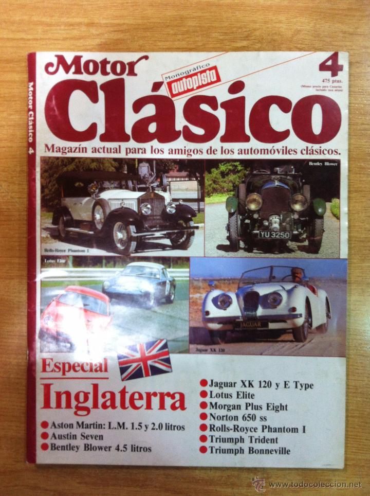 MOTOR CLASICO Nº4 ORIGINAL (Coches y Motocicletas Antiguas y Clásicas - Revistas de Coches)