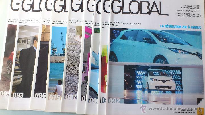LOTAZO 9 REVISTAS GLOBAL RENAULT+POSTERS F1. DEL 2009-12 RARAS (Coches y Motocicletas Antiguas y Clásicas - Revistas de Coches)