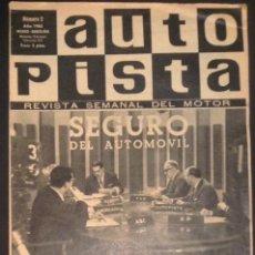 Coches: REVISTA DE COCHES AUTOPISTA AUTO-PISTA Nº 312 DE 1965 FIAT 500. Lote 51000997