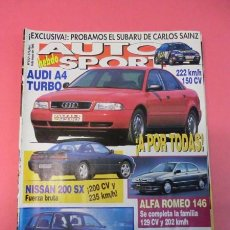 Coches: AUTO HEBDO SPORT 512: AUDI A4 TURBO; SUBARU CARLOS SAINZ; NISSAN 200 SX; ALFA 146; GP SAN MARINO. Lote 51934236