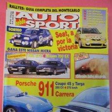 Coches: AUTO HEBDO SPORT 546: ALFA GTV-NISSAN 200 SX; PORSCHE 911 COUPÉ 4S Y TARGA; DAKAR; AVANCE MONTECARLO. Lote 51934401