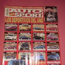 Coches: AUTO HEBDO SPORT 548: LOS DEPORTIVOS DEL AÑO; MONTECARLO; VOYAGER; GAMA MEGANE; ORIOL KIT CAR. Lote 51936183