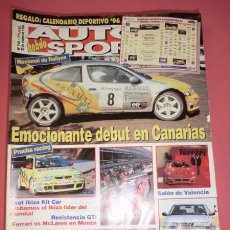 Coches: AUTO HEBDO SPORT 556: RALLY CANARIAS; SEAT IBIZA KIT CAR; SAAB 900 SENSONIC; GT MONZA; ROVER 400. Lote 51936318