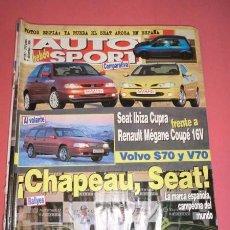 Coches: AUTO HEBDO SPORT 591: IBIZA CUPRA-MEGANE COUPE 16V; VOLVO S70 Y V70; SEAT MUNDIAL 2 ; RAC INGLATERRA. Lote 51936445