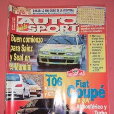 Coches: AUTO HEBDO SPORT 598: DAKAR; 65º MONTECARLO; PEUGEOT 106 RALLYE Y GTI; FIAT COUPÉ 2.0 Y TURBO. Lote 51936824