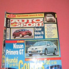 Coches: AUTO HEBDO SPORT 601: STRATUS V6; NISSAN PRIMERA GT; HYUNDAI COUPÉ-FIAT COUPÉ; RALLY SUECIA. Lote 51936849