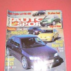 Coches: AUTO HEBDO SPORT 602: HONDA CIVIC; PRELUDE; SEAT AROSA; MEGANE 16V; 306 GTI; TESTS NACIONAL RALLYES. Lote 51936859