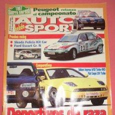 Coches: AUTO HEBDO SPORT 612: FELICIA KIT CAR; ESCORT GR.N; IMPREZA WRX TURBO; FIAT COUPÉ; IBIZA CUPRA-TDI. Lote 53231288