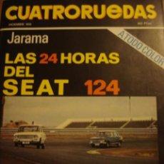Coches: REVISTA CUATRORUEDAS - NUM. 84 - SEAT 124 24H JARAMA - CHRYSLER - SEAT 124 SPORT 1600 PRESENTACION -. Lote 52911324