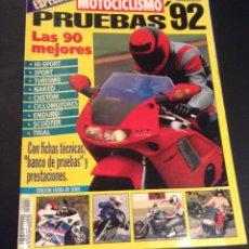 Coches: REVISTA MOTOCICLISMO ESPECIAL PRUEBAS Nº 3 92 1992 FICHAS TECNICAS Y BANCO DE PRUEBAS. Lote 61745555