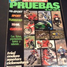 Coches: REVISTA MOTOCICLISMO ESPECIAL PRUEBAS Nº 2 91 1991 FICHAS TECNICAS Y BANCO DE PRUEBAS. Lote 52926971
