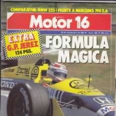 Coches: REVISTA MOTOR 16 Nº 205 AÑO 1987. PRUEBA: MG MONTEGO TURBO. COMP: MERCEDES 190 2.6 Y BMW 325I. . Lote 109388704