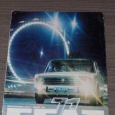 SEAT 71- REVISTA- DICIEMBRE 1971- N.58